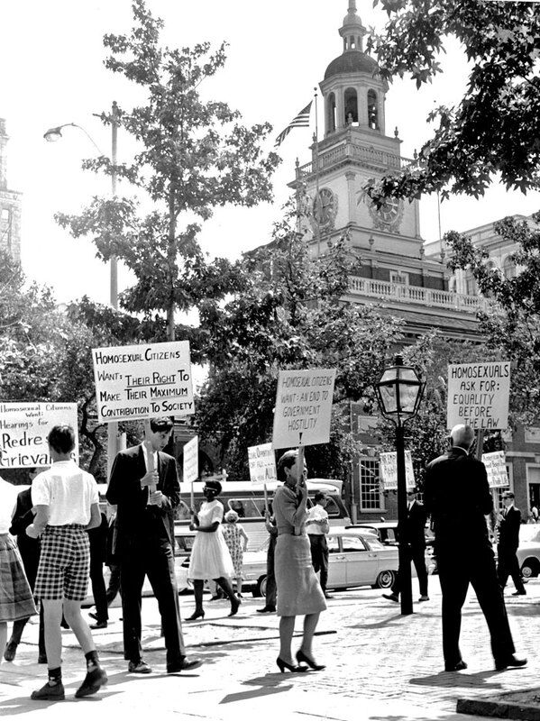 Independence Hall Protests 3 (1965) Mattachine AP